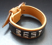 jewels,custom leather cuff,personalized cuff,unique gifts for dad,fathers day bracelet,gifts for daddy