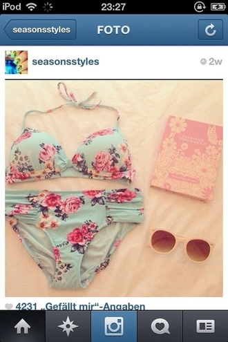 cute floral nice swimwear sweet