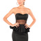 Black strapless dress - sheer mesh strapless peplum dress   ustrendy