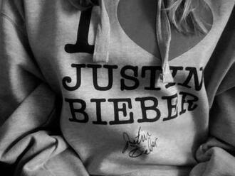 sweater justin bieber grey i love you