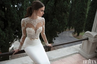 dress wedding dress lace wedding dress ivory dress long dress