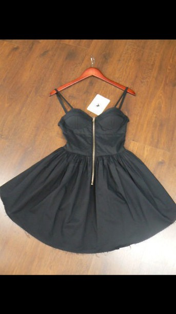 dress black dress zip
