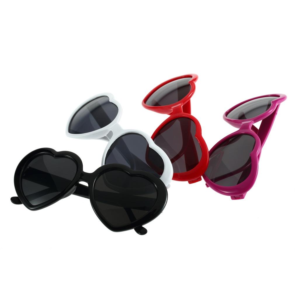 Retro Summer Cute Glasses Women Girl Love Heart Shape Sunglasses Stylish S9   eBay