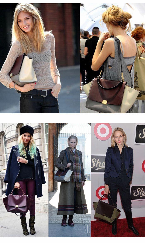 Designer Inspired Women Trapeze 2 SHAPE BAG Faux Leather/Suede Handbag Purse   eBay