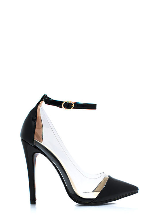 a0e058a2415 Clear The Way Pointy Pumps BLACK NUDE RED MINT SILVER ...