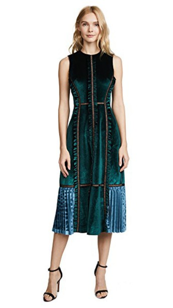 dress midi dress midi velvet forest green forest green