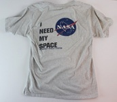 t-shirt,i need my space,nasa,space,nasa shirt,space shirt,grey,kennedy space center,i need my space shirt,nasa tshirt,grey t-shirt,shirt,planets,galaxy print,stars,tumblr,hipster,grunge