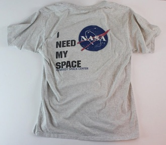 t-shirt i need my space nasa space nasa shirt space shirt grey gray kennedy space center i need my space shirt nasa tshirt shirt