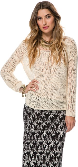 SWELL FREE ME CONTRAST BACK SWEATER > Womens > Featured > SWELL Exclusives   Swell.com