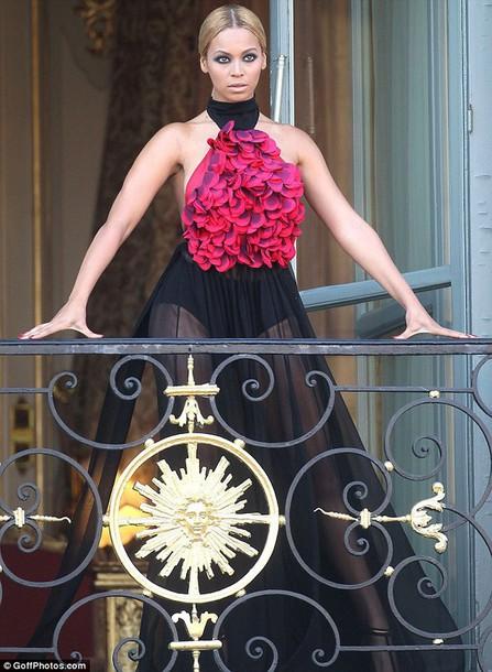 dress red black beyonce