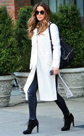 sunglasses,kate beckinsale,jeans,coat
