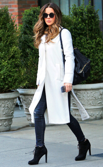 sunglasses kate beckinsale jeans coat