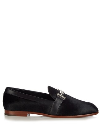 hair loafers black shoes