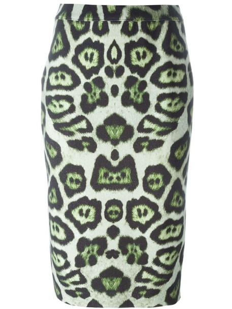 Givenchy skirt print leopard print green