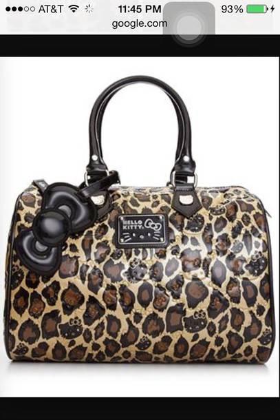 bag hello kitty cheetah purse