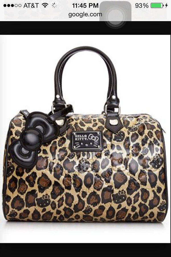 7ad82386a AUTHENTIC HELLO KITTY EMBOSSED LOUNGEFLY LEOPARD LARGE TOTE BAG ...