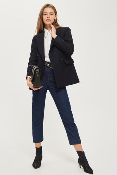 Topshop blazer classic navy blue jacket