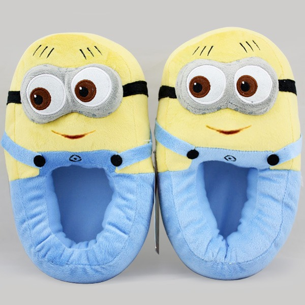 2014 Despicable Me Minion stewart on tooth Monsters Cosplay Adult Lady Slippers Plush Toy Shoes hot sale-in Slippers from Shoes on Aliexpress.com | Alibaba Group