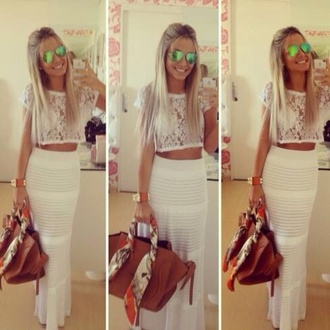 skirt white maxi skirt fantastic skirt shirt grey office outfits all white everything