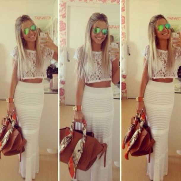skirt white maxi skirt fantastic skirt shirt gray