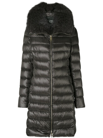 parka fur fox women grey coat