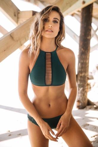 swimwear bikini push up women clothing summer army green tan beach