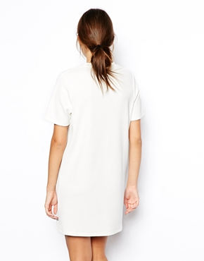 ASOS | ASOS Shift Dress with Zip Sides in Texture at ASOS