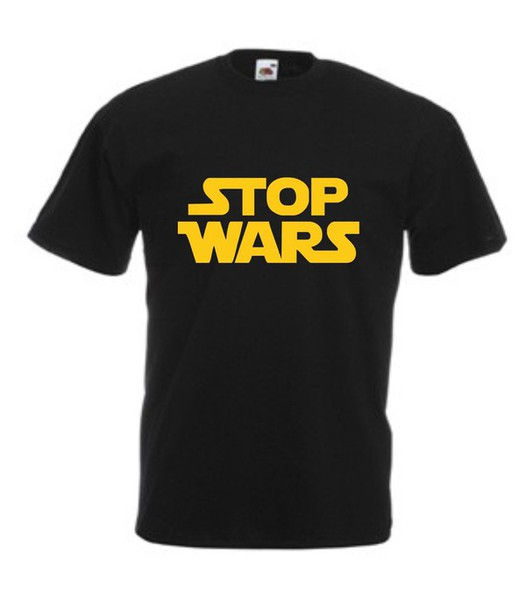 t-shirt stop wars funny menswear