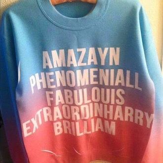sweater one direction colorful
