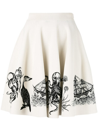 skirt embroidered women spandex jacquard nude