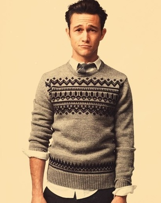 sweater knit hipster menswear cardigan knitted sweater joseph gordon-levitt mens sweater jumper knit wear clothes celebrity mens cable knit jumper