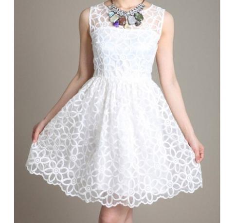 Beautiful white crochet lace dress from doublelw on storenvy