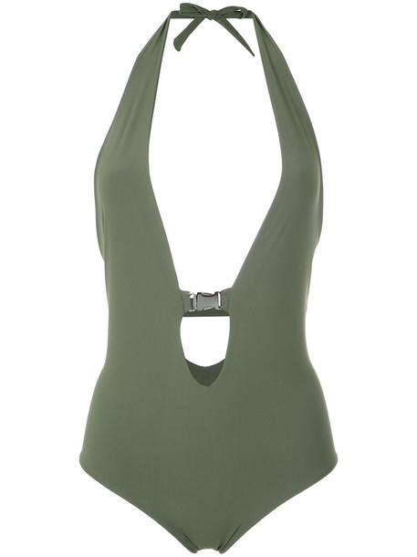 Gloria Coelho women spandex green swimwear
