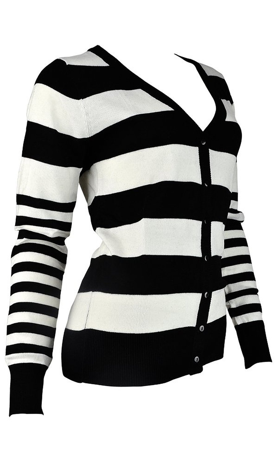 Fappac Women's Wool Blend Buttoned Striped Cardigan Sweater at Amazon Women's Clothing store: