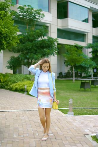 bag blogger shoes jacket kryzuy skirt