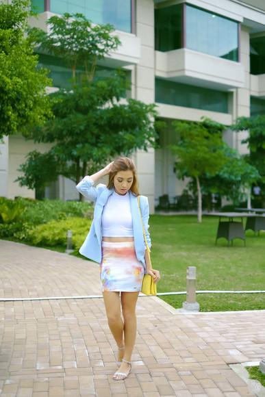 kryzuy shoes bag jacket blogger skirt
