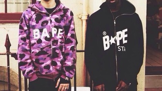 jacket bape dope military style