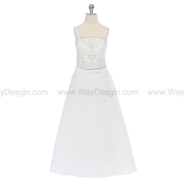 dress white dress flower girl dress