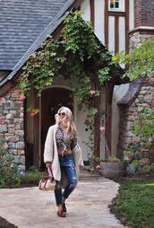 love maegan,blogger,jeans,shoes,sunglasses,bag,leopard shirt,fall outfits,loafers