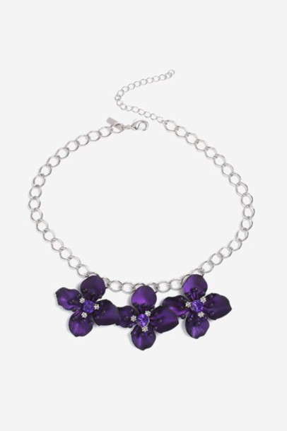 Topshop collar necklace necklace purple jewels