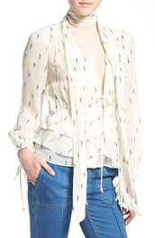 top,silk,olivia palermo,silk blouse