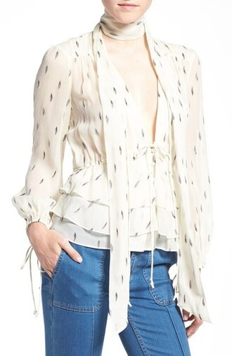 top silk olivia palermo silk blouse
