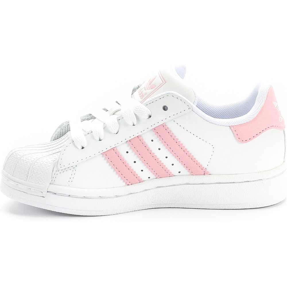 adidas white and pink superstar