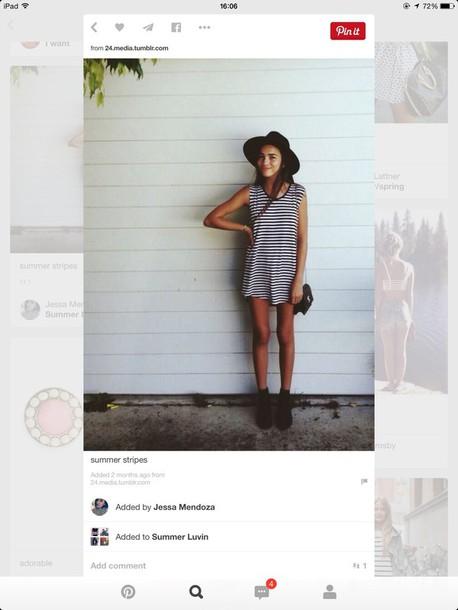dress stripes summer fashion streetstyle