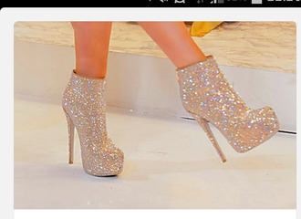 sparkles ankle boots