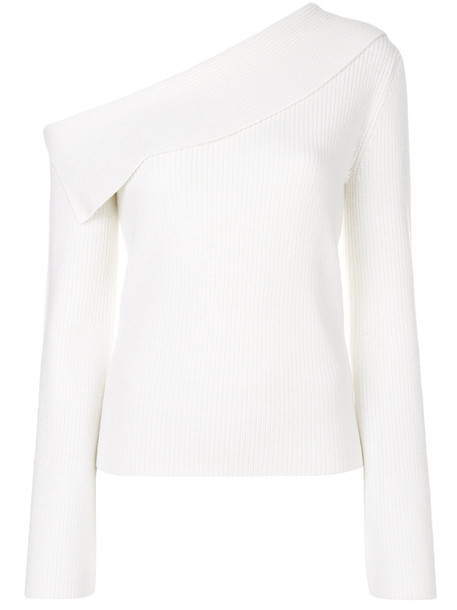 theory top knitted top women white