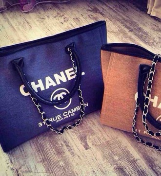 bag chanel black gray
