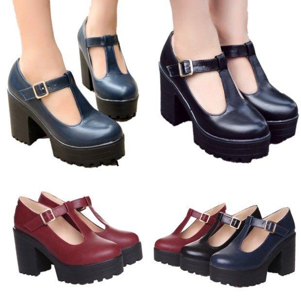 Retro platform heels