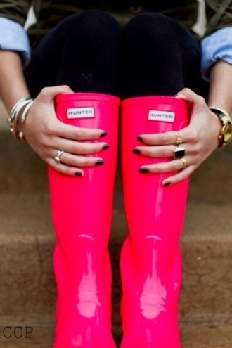 shoes hunter hot pink wellies hunter rain boots pink
