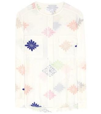 blouse silk top